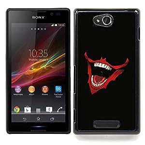 Laughing Joker Mouth Caja protectora de pl??stico duro Dise?¡Àado King Case For Sony Xperia C S39h C2305