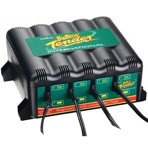 Deltran 022-0148-DL-WH Four Bank Battery Chargers by Deltran (Image #1)