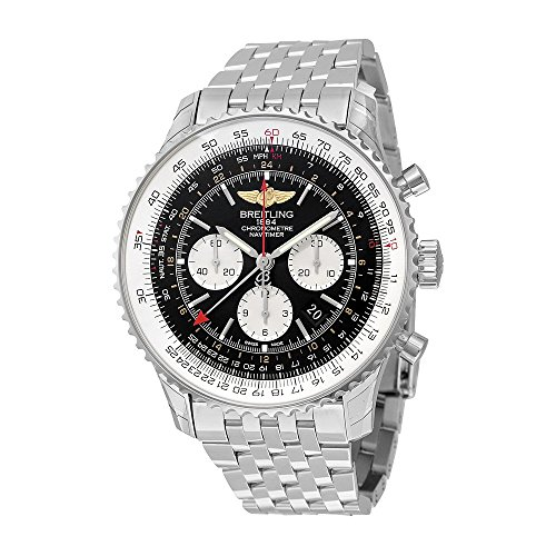 Breitling Navitimer GMT Black Dial Mens Watch AB044121/BD24