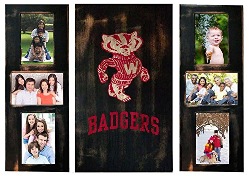 (University of Wisconsin Badgers Photo Frame Set 3pc Wooden Picture Frame)