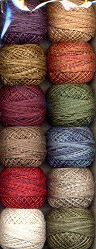 (Valdani Size 12 Perle Cotton Embroidery Thread Artists Palette Collection (PC12-ArtistP))
