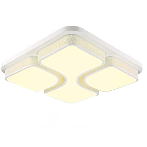 MCTECHR Modern Deckenleuchte 36W LED Deckenlampe Panel Lampe Energiespar Licht Fur Wohnzimmer Wandlampe Weiss Acryl