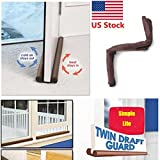 Twin Door Draft Dodger Guard Stopper Energy Save Window Protector Doorstop by BestChoiceUS