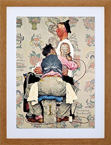 9x7 '' PAINTINGS PORTRAIT TATTOO PARLOUR SAILOR INK IST FRAMED ART PRINT F97X786