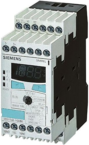 99-1800 Degrees Celsius Measuring Range 45mm Width 1 CO Siemens 3RS11 42-1GW80 Temperature Monitoring Relay 2 Threashold Values Digital Setting 1 CO - Screw Terminal 1 NO Contact Type, 24-240VAC//VDC Control Supply Voltage at 50-60Hz 3RS11421GW80