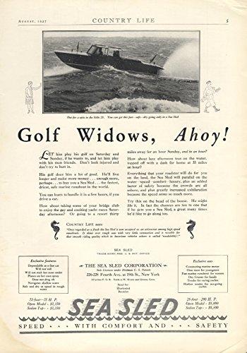 Gold Widows, Ahoy! Sea Sled 23' Speedboat ad 1927 CL