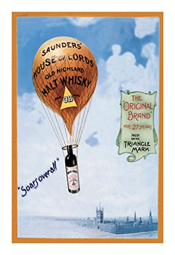 Soars Over All Saunders' House of Lords Old Highland Malt Whiskey by Fred Smith Wall Decal, 24