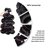 Perstar Hair 8A Grade Brazilian Body Wave hair 4 bundles Remy Human Hair extension Uprocessed Virgin Hair Natural Color (16 18 20 22, natural color)…