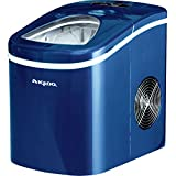 Ice Maker Compact Portable Ice Cube Making Machine - Blue + FREE E-Book