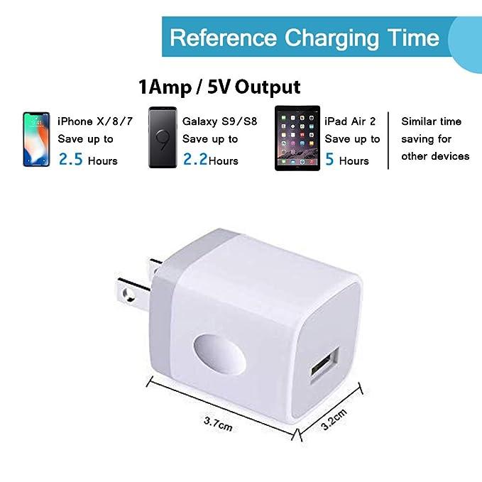 Amazon.com: Enchufe cargador de pared USB único, caja de ...