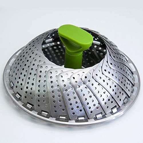 XXDTG Vapeur légumes en Acier Inoxydable Pliant Etuve Panier for Gamelle légumes Cuisine Cuisson Vapeur Outil (Size : Medium)