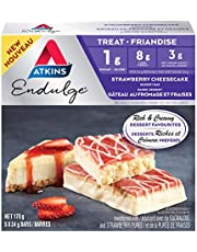 Atkins Endulge Treat, Strawberry Cheese Cake Dessert Bar, Keto Friendly, 5 Count