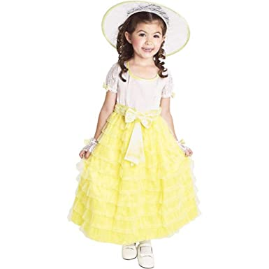 Toddler Yellow Southern Belle Costume (Size 3-4T)  sc 1 st  Amazon.com & Amazon.com: Toddler Yellow Southern Belle Costume (Size: 3-4T): Clothing