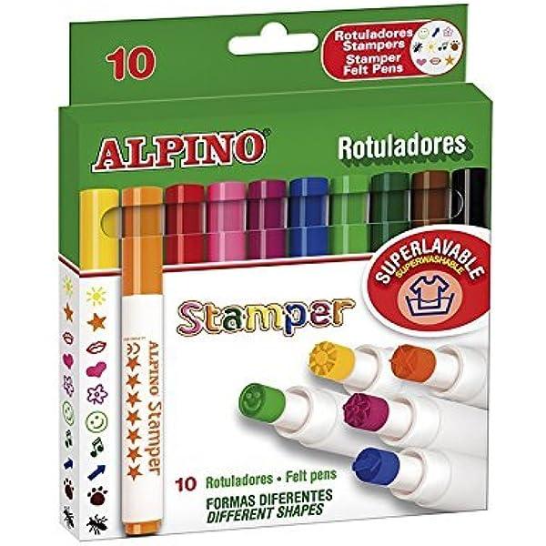 Alpino AR000059 - Estuche de 10 rotuladores, colores surtidos: Amazon.es: Oficina y papelería