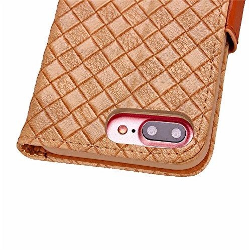 Voguecase® Pour Apple iPhone 7 Plus Coque, Étui en cuir synthétique chic avec fonction support pratique pour Apple iPhone 7 Plus (motif de contexture-Jaune)de Gratuit stylet l'écran aléatoire universe