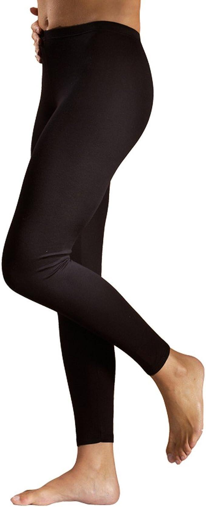 100/% coton biologique HERMKO 1720 2 pi/èces de legging femmes