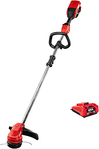 Skil LT4818-10 PWRCore 40 14-Inch Brushless 40V String Trimmer Kit Includes 2.5Ah Battery and Auto PWRJump Charger