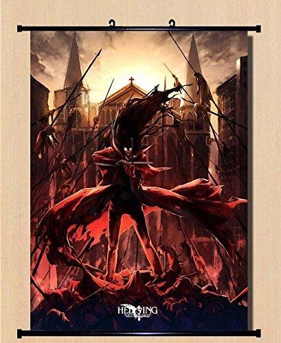 Home Decor Anime Hellsing Alucard Seras·Victoria Integral Scroll Poster 23.6x31.5 Inches -037 ()