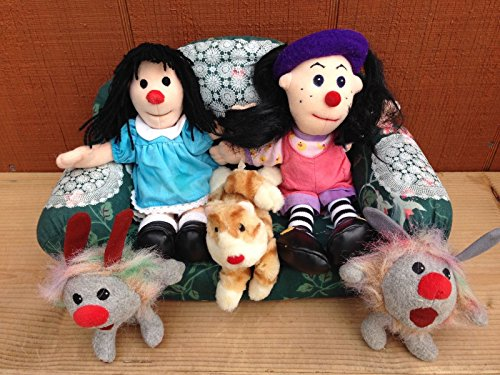 Big Comfy Couch Molly Dust Bunnies Loonette the Clown Plush SET 6 VINTAGE 1996