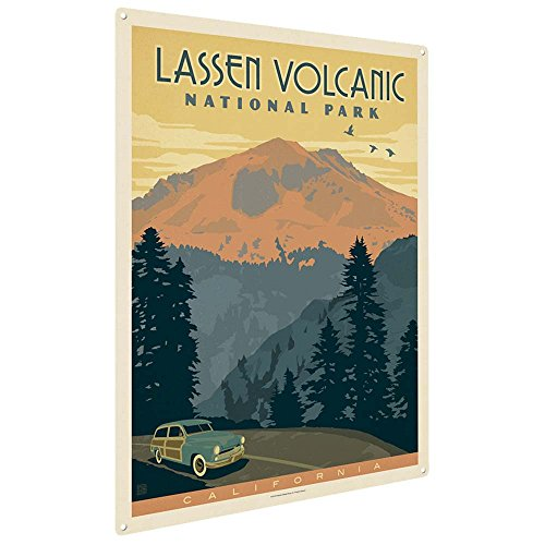Anderson Design Group Lassen Volcanic National Park 12x16 Metal Art Print, Home Decor for Office, Nursery, Patio, Garage, Cabin, or Vacation Home
