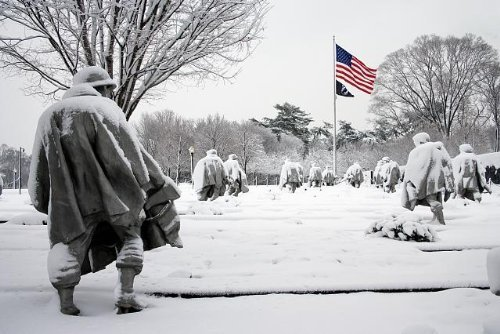 Photo: Korean War Memorial,Washington,DC,District of Columbia,Snow,Winter,2006 (Korean The War Memorial)