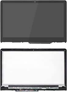 FirstLCD Touch LCD Screen Replacement for (HP) Hewlett-Packard Pavilion x360 15-BR075NR 15-BR076NR 15-BR077CL 15-BR077NR digitizer Glass LED Display Panel Assembly W/Bezel 1080P FHD 15.6 inch