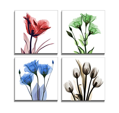 Framed Ready to Hang Elegant Tulip Flower Canvas  Wall Art