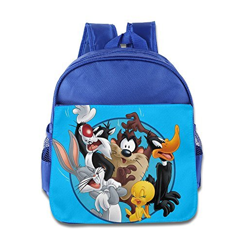 Kids Looney Tunes School Backpack Cartoon Baby Boys Girls School Bags RoyalBlue
