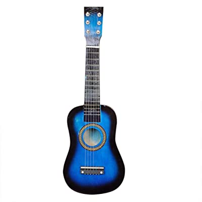 "RollingBronze 6 Strings Ukulele Mini Guitar Musical Instrument for Children Gift 21"" Soprano Ukulele Basswood Acoustic Toy: Home & Kitchen"