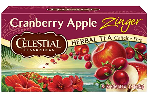 Herb Cranberry Apple Tea (Celestial Seasonings Herbal Tea, Cranberry Apple Zinger, 20 Count (Pack of 6))