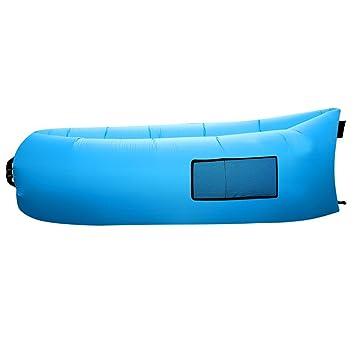 Outad - Sofá tumbona inflable, saco de dormir, colchones de aire de compresión, silla portátil, camas con ...