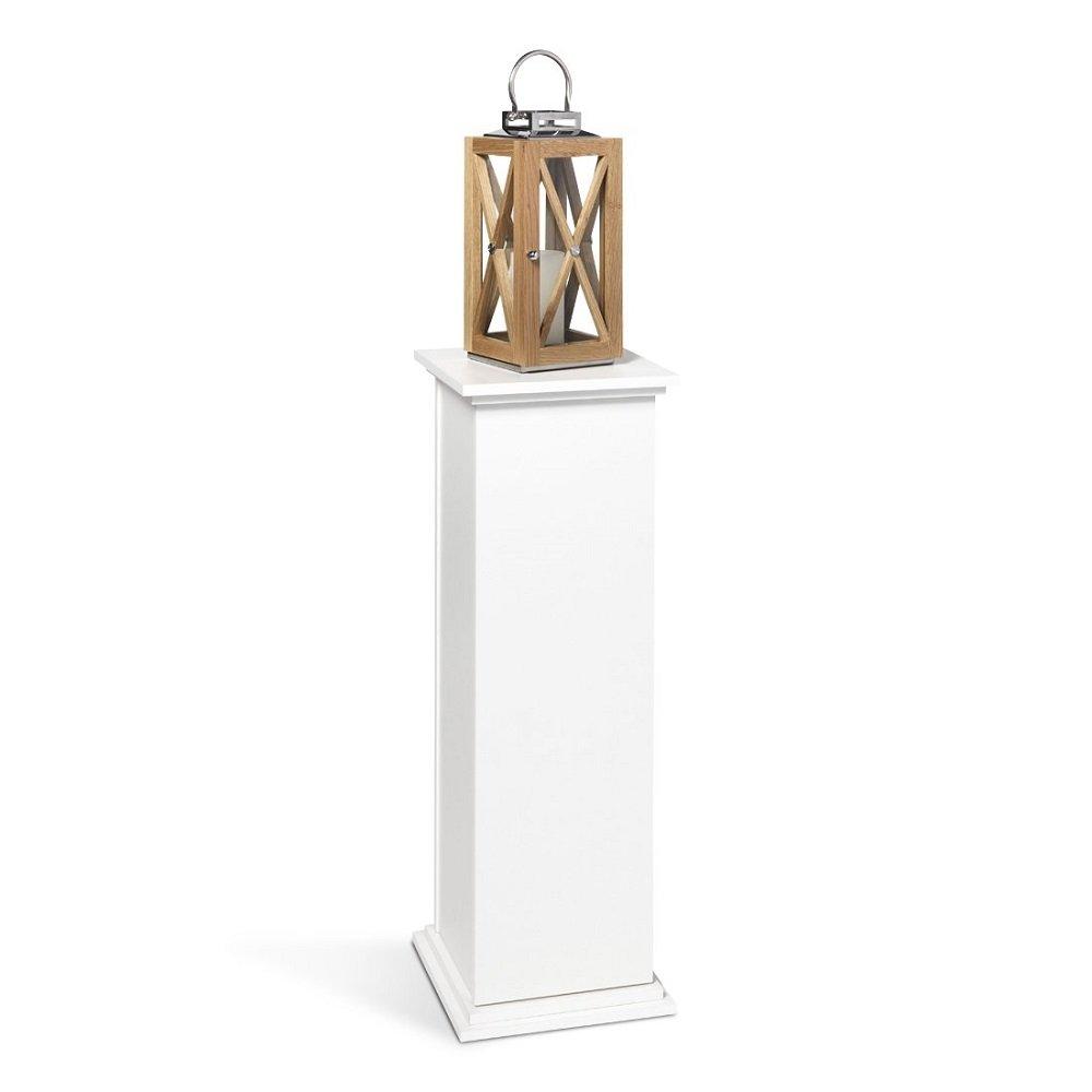 Unbekannt FMD Möbel Essex 2 Dekosäule, Holz, Weiß, 30x30x89 cm