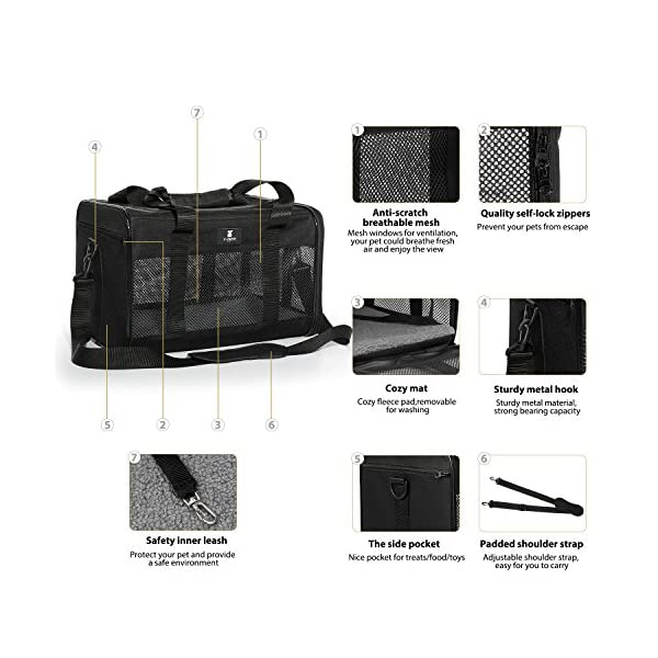 X-ZONE PET Airline Approved Soft-Sided Pet Travel Carrier for Dogs and Cats 5