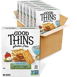 Good Thins Garden Veggie Rice Snacks Gluten Free Crackers, 6 - 3.5 oz Boxes