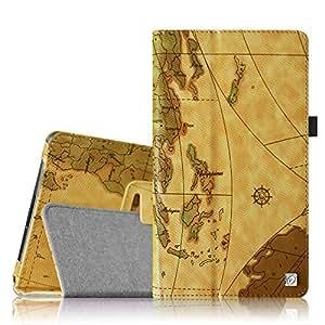 "Fintie Premium PU Leather Case Cover for Polatab Elite Q10.1"" Android 4.4 KitKat Tablet - Brown, [Importado de Reino Unido]"
