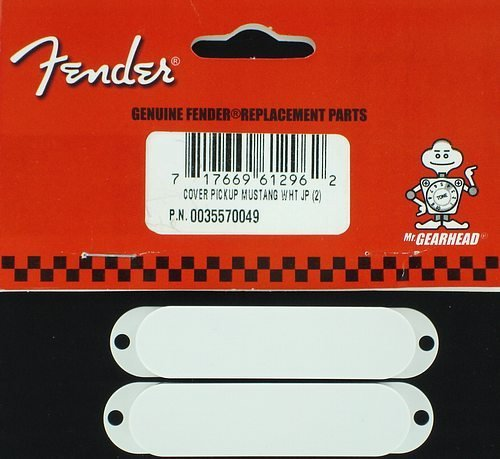 Fender 003-5570-049 Mustang Pickup Covers - White 0035570049