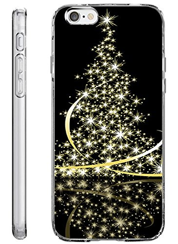 iPhone 6 Plus Back Cover Protector Case 5.5 Inch Sparkle Christmas Tree