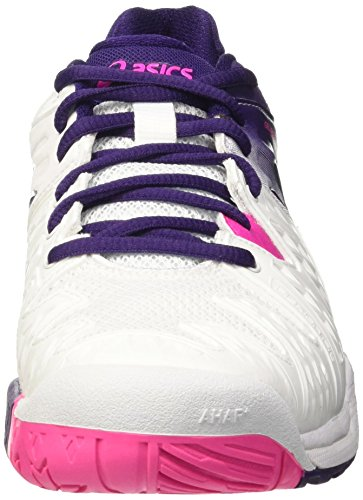 Asics Gel-Resolution 6 W, Zapatillas de Tenis para Mujer Multicolor (White/Parachute Purple/Hot Pink)