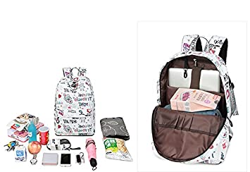 Amazon.com: Casual Waterproof Fabric Women Backpacks Cute Rocket Pattern Printing Girls Youth Travel Laptop Mochila Blue 14 Inches: Sports & Outdoors