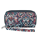 Travelon Women's Boho Ladies Wallet, Summer Paisley