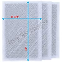 Dynamic Air Cleaner Replacement Filter Pads 18 7/8 x 21 1/2 Refills (3 Pack) White