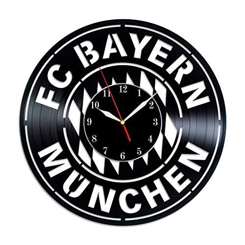 FC Bayern Munich vinyl record clock home decor football fan gift Soccer FC Car Window Decal Art - Clock Munich