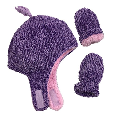 NIce Caps Little Girls and Baby Velboa Lined Micro Fleece Accessory Set