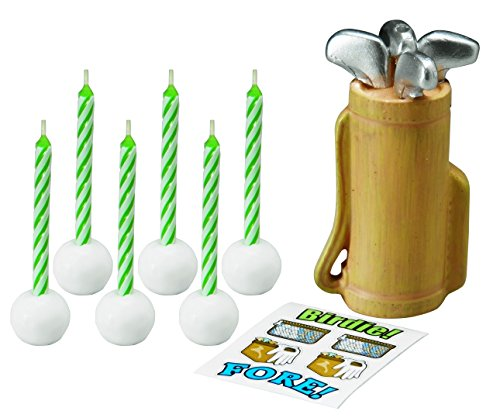 Wilton 2811 8420 Golf Decal Candle