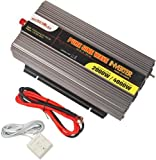 MicroSolar - 12V 2000W (Peak 4000W) Pure Sine Wave Inverter - with Battery Cable & Remote Wire Controller
