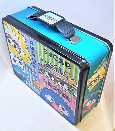 (Lunch Box - Sesame Street - Elmo/Cookie Monster Metal Tin Case New 647627)