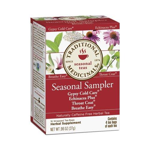 Traditional Medicinals Herb Tea Og3 Seasn Samplr 16 Bag by Traditional Medicinals