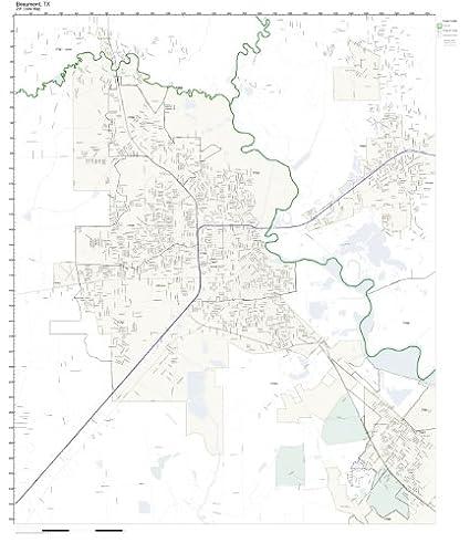 Map Of Beaumont Texas.Amazon Com Zip Code Wall Map Of Beaumont Tx Zip Code Map Laminated