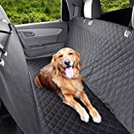 Pedy Luxury Pet Seat Cover for Cars, Dog Car Seat Cover with Anchors, Trucks, and Suv's - Black, Hammock Convertible