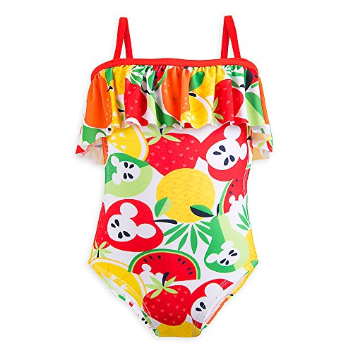 Disney Mickey Mouse Fruit Swimsuit For Girls - Summer Fun Size 3 White